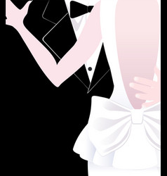 Bride and groom wedding dance vector