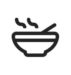 broth icon vector image