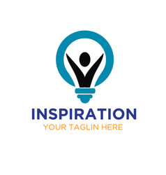 Bulb inspirations logo designs vector