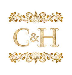 C and h vintage initials logo symbol letters c vector