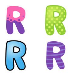 Cartoon font type vector