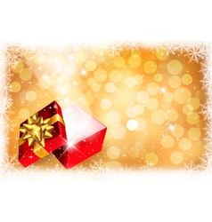 Christmas gift box vector image