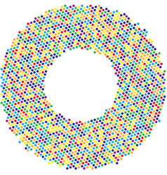 circle with dots for design project halftone vector image