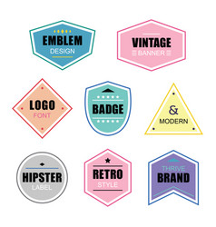 colorful retro and vintage bannners icons set vector image