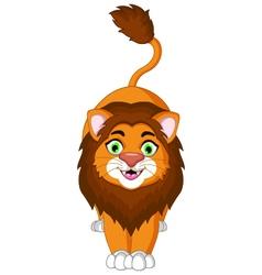 cute lion cartoon posing for you design vector image