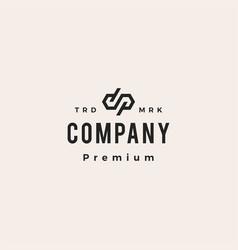 dp letter mark monogram hipster vintage logo icon vector image
