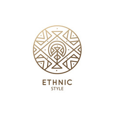 esoteric geometric logo vector image