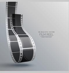 film strip in 3d style design vector image