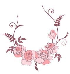 Floral pink frame vector