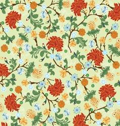 floral seamless pattern design vector image