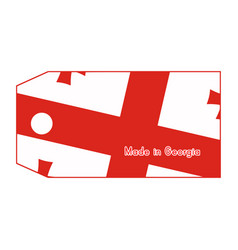 Georgia flag on price tag with word made in vector