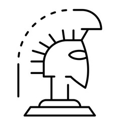 Greek helmet icon outline style vector