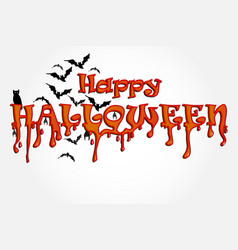 halloween horror party background vector image