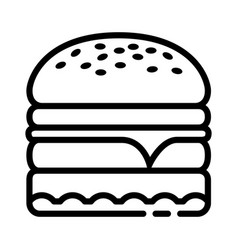 hamburger food icon design sign vector image