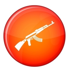 Kalashnikov machine icon flat style vector