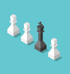 king pawns leadership concept vector image