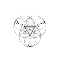 Magic alchemy symbols sacred geometry print logo vector