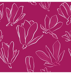 Magnolia Flowers on a Pink Background vector image