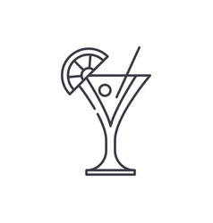 martini line icon concept martini linear vector image