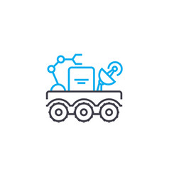 mobile laboratory thin line stroke icon vector image