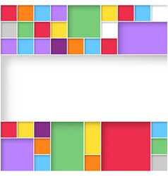 Modern user interface flat design colorful squares vector