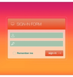 Modern user interface screen login template for vector