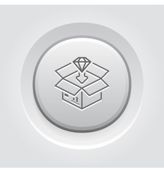 Packing Icon Grey Button Design vector image