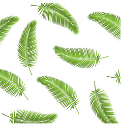 palm leaf seamless pattern background palm leaves vector image