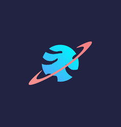 planet logo vector image