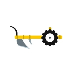 Plough icon flat vector