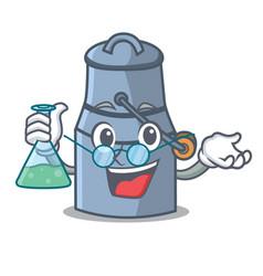 professor milk can character cartoon vector image