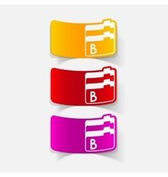 Realistic design element folder vector
