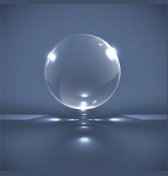 Realistic glass spheres vector