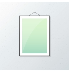 Realistic poster mockup vector