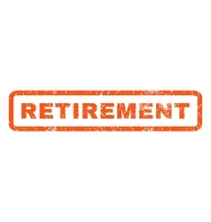 Retirement Rubber Stamp vector image