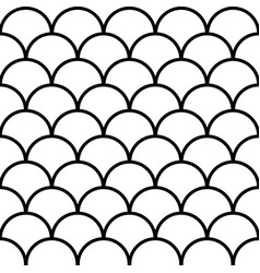 seamless fish scale background paving tiles vector image
