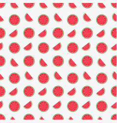 Seamless pattern background from watermelon vector