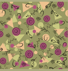 seamless pattern with geometric pattern of tria vector image
