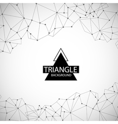 set abstract triangle background banners vector image