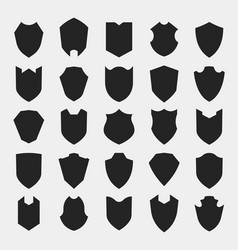 Shields silhouettes vector