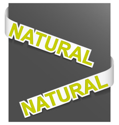 sign natural vector image