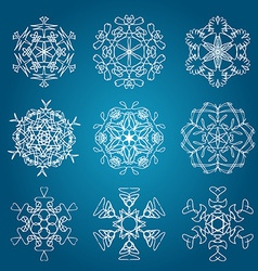 Snowflake icon Winter theme Winter snowflakes of vector image