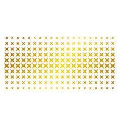 sparkle star golden halftone array vector image
