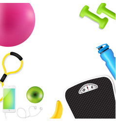 sport fitness border vector image