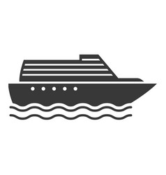 steamboat black icon steam driven vessel symbol vector image