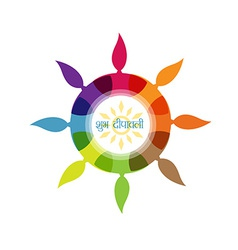 stylish diwali design vector image