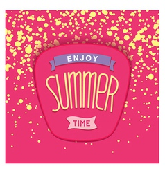 Summer label design vector image