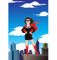 superhero businesswoman vector image