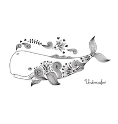 Tattoo Happy Whale vector image vector image