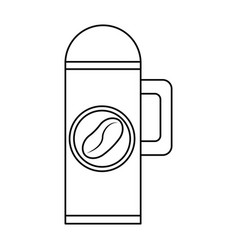 thermo with coffee drink vector image